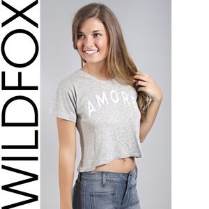 Wildfox Tee Amore Hearts Middie NWT